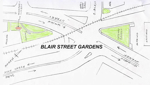 Drawing of Blair Street Gardens